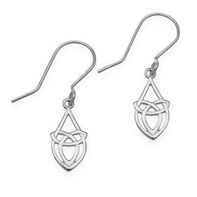Ortak Sterling Silver Celtic Earrings - E1633-Ogham Jewellery