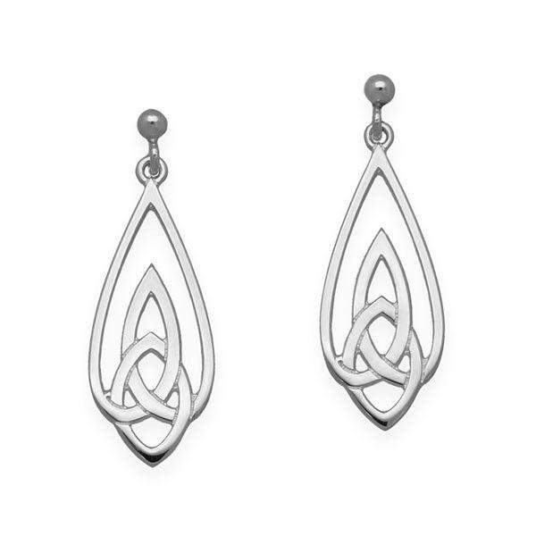 Ortak Sterling Silver Celtic Earrings - E1636-Ogham Jewellery
