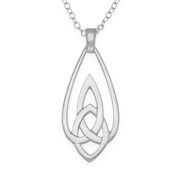 Ortak Sterling Silver Celtic Knot Pendant-P979-Ogham Jewellery