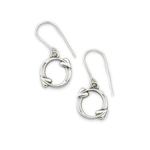 Ortak Sterling Silver Drop Earrings - E1604-Ogham Jewellery