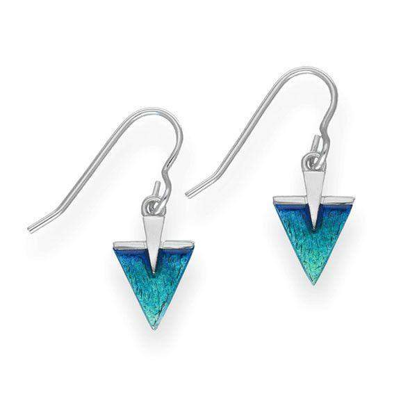 Ortak Sterling Silver & Enamel Earrings - EE462-Ogham Jewellery