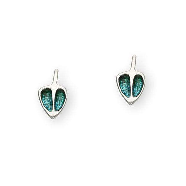 Ortak Sterling Silver & Enamel Mackintosh Earrings - EE487-Ogham Jewellery