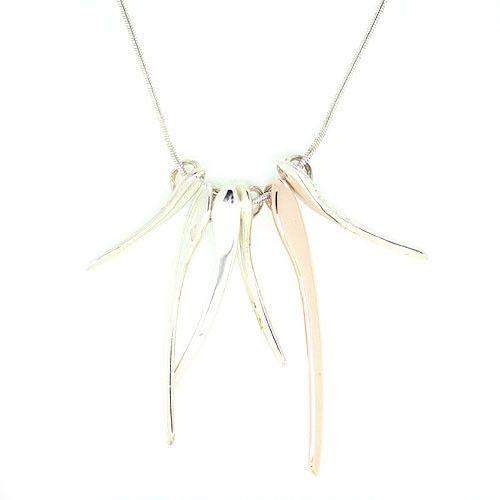 Ortak Sterling Two Tone Necklace - P699-Ogham Jewellery