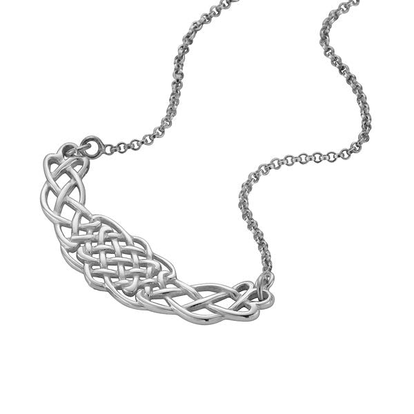 Sterling Silver Celtic Necklet - P064ND