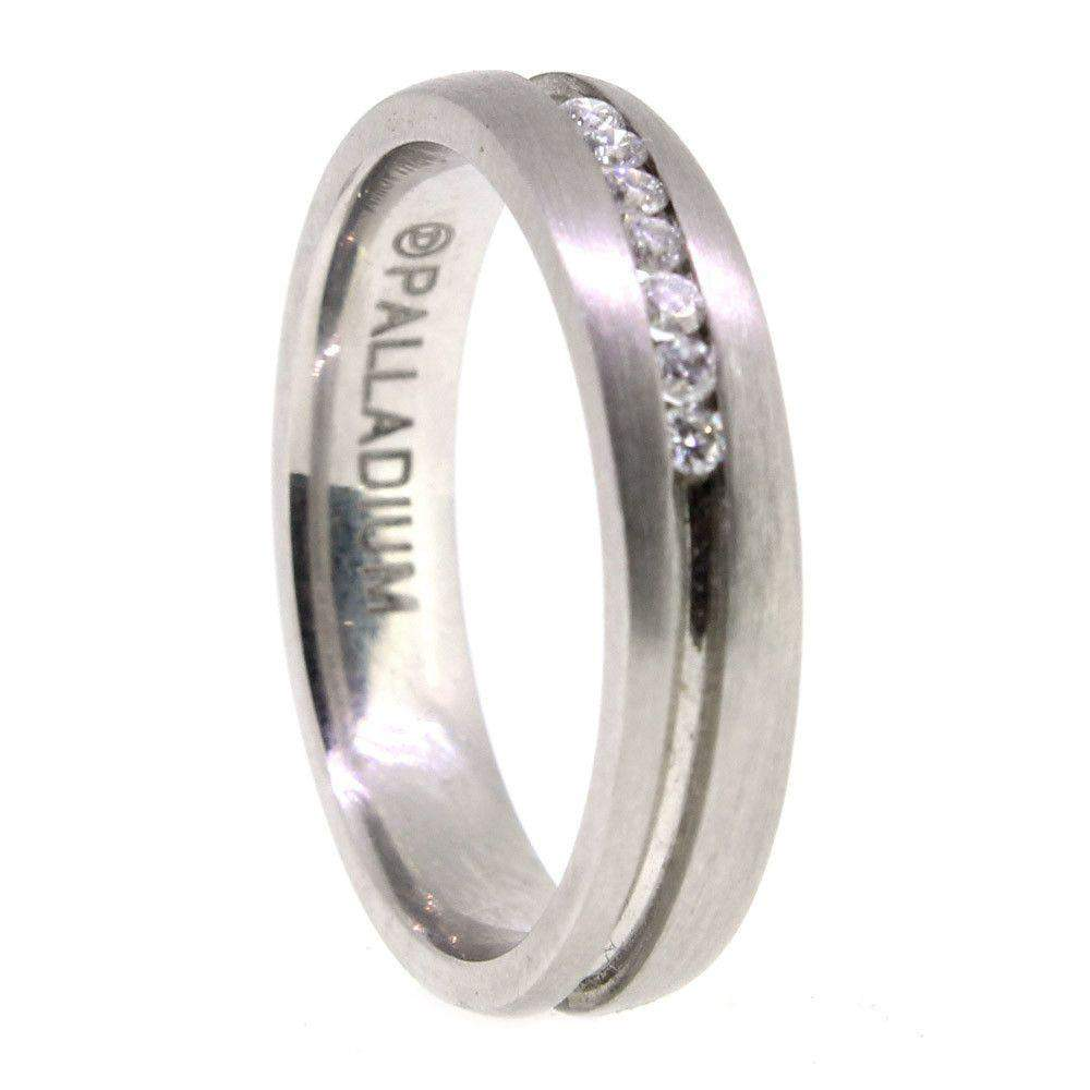 Palladium Diamond Wedding Ring PDWB087-Ogham Jewellery