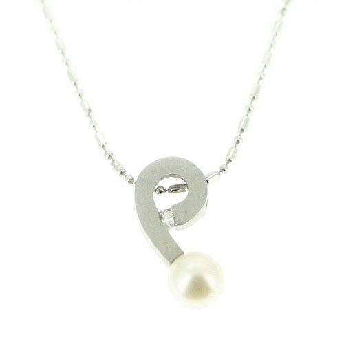 Platinum and Pearl Pendant 2619-Ogham Jewellery