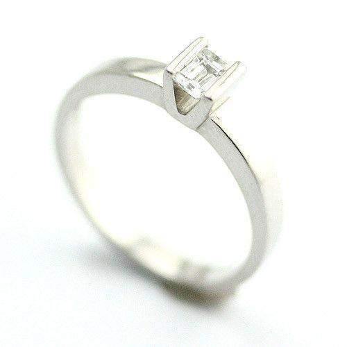 Platinum Flawless Emerald Cut Diamond Engagement Ring 0.3ct-Ogham Jewellery