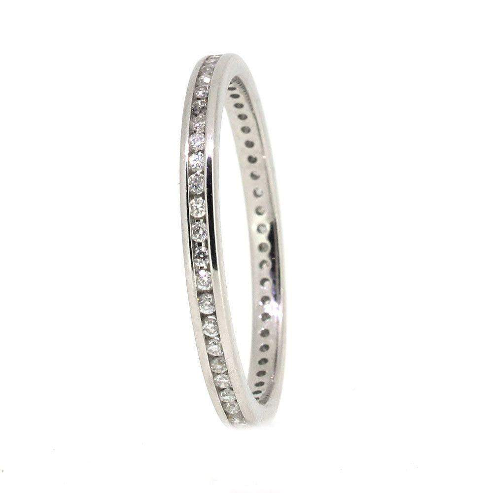 Platinum Quarter Carat circle of diamonds-Ogham Jewellery
