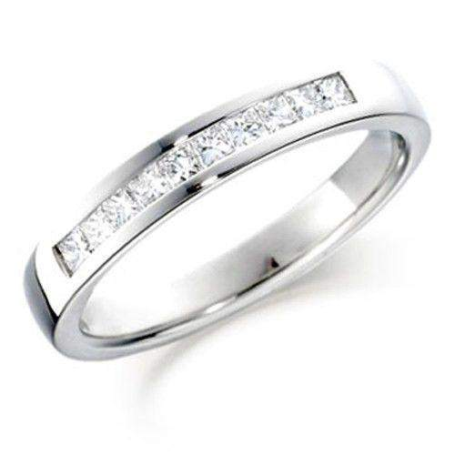 Princess Cut Diamond Half Eternity Ring 0.25ct in Gold, White Gold or Platinum - HET100-Ogham Jewellery