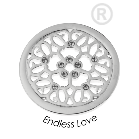 Quoins Endless Love Coin Medium -QMOA42M-Ogham Jewellery