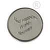 Quoins Find Happiness Within Yourself Coin Small - QMOZ1OS-Ogham Jewellery
