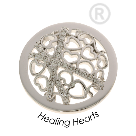 Quoins Healing Hearts Coin Medium -QMOA45MZ-Ogham Jewellery