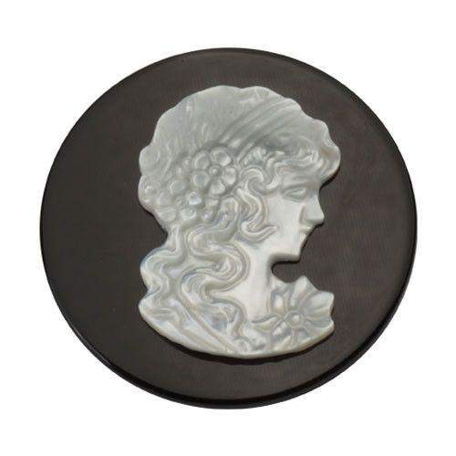 Quoins Lady Cameo Coin - Large - QMS-01-Ogham Jewellery