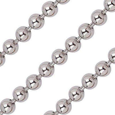 Quoins Stainless Steel Ball Chain - Various Lengths - QK-S2-E-Ogham Jewellery