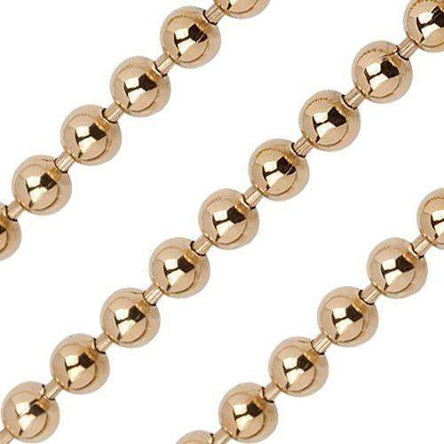 Quoins Yellow or Rose Gold Plated Ball Chain - Various Lengths - QK-S2-RG-Ogham Jewellery