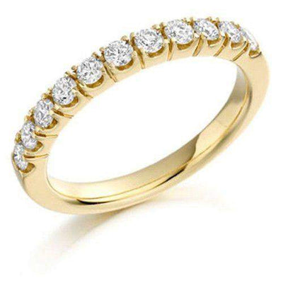 Round Diamond Half Eternity Ring 0.50ct - Various Metals Available - HET179-Ogham Jewellery