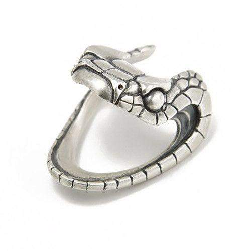 Serpent Mens Silver Designer Ring