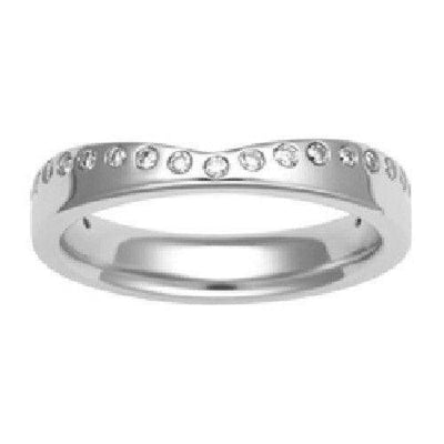 Shaped Wedding Ring - Gold Platinum Palladium - Unity-3107-Ogham Jewellery