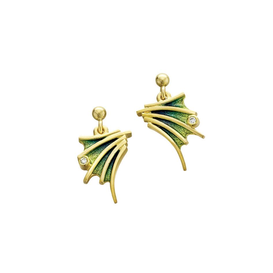 Sheila Fleet 18ct Gold and Diamond Cascade Earrings - EDE00150-Ogham Jewellery