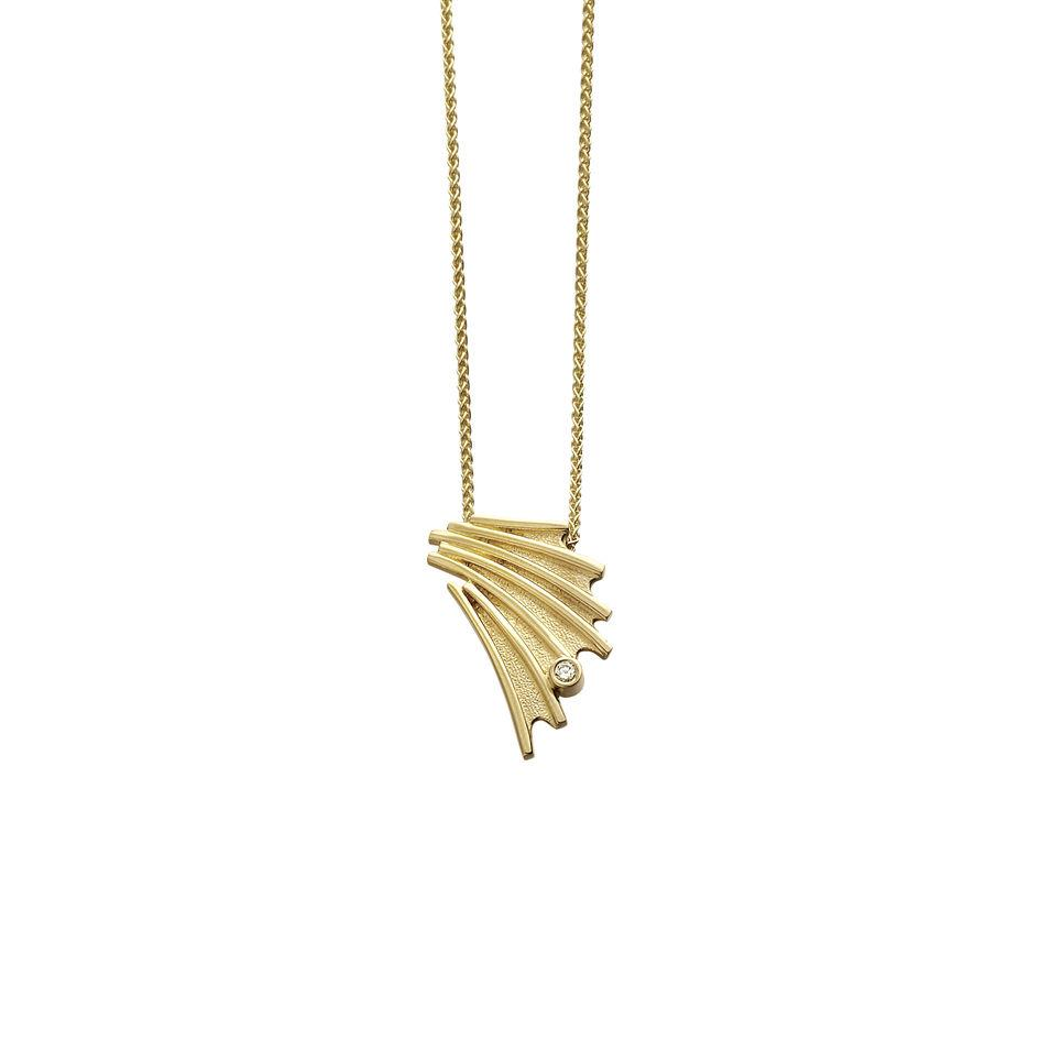 Sheila Fleet 9ct Gold and Diamond Cascade Pendant - DP150-Ogham Jewellery