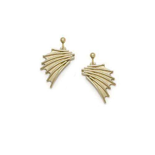 Sheila Fleet 9ct Gold Earrings - 'Cascade' E150-Ogham Jewellery