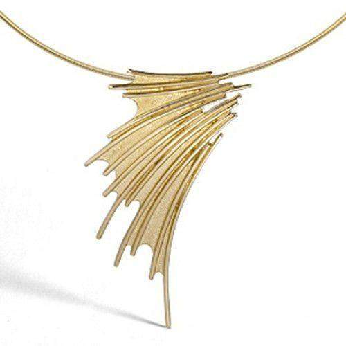 9ct Gold Sheila Fleet Necklet 'Cascade' NXX150-Ogham Jewellery