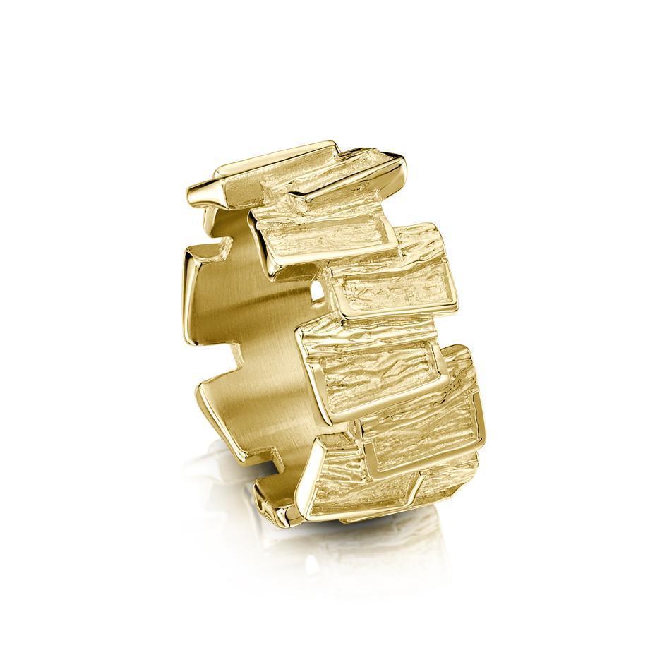 Sheila Fleet 9ct Gold Flagstone Ring - RX137 Sizes I-Q-Ogham Jewellery