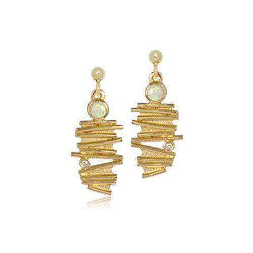 9ct Gold Moonlight Earrings - DE149