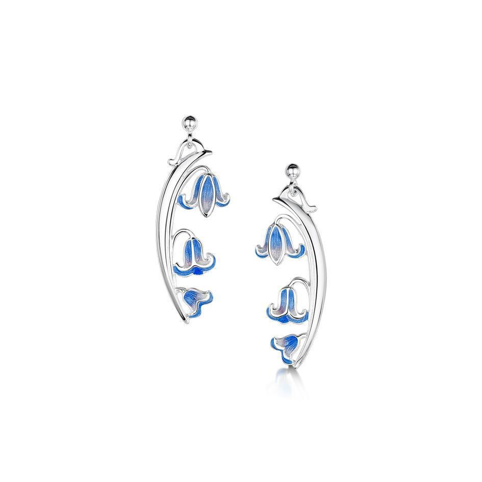 Sheila Fleet Bluebell Earrings - EE243-Ogham Jewellery