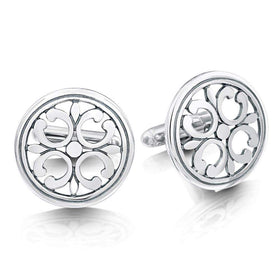 Sheila Fleet Cathedral Silver Cufflinks -CL21-Ogham Jewellery