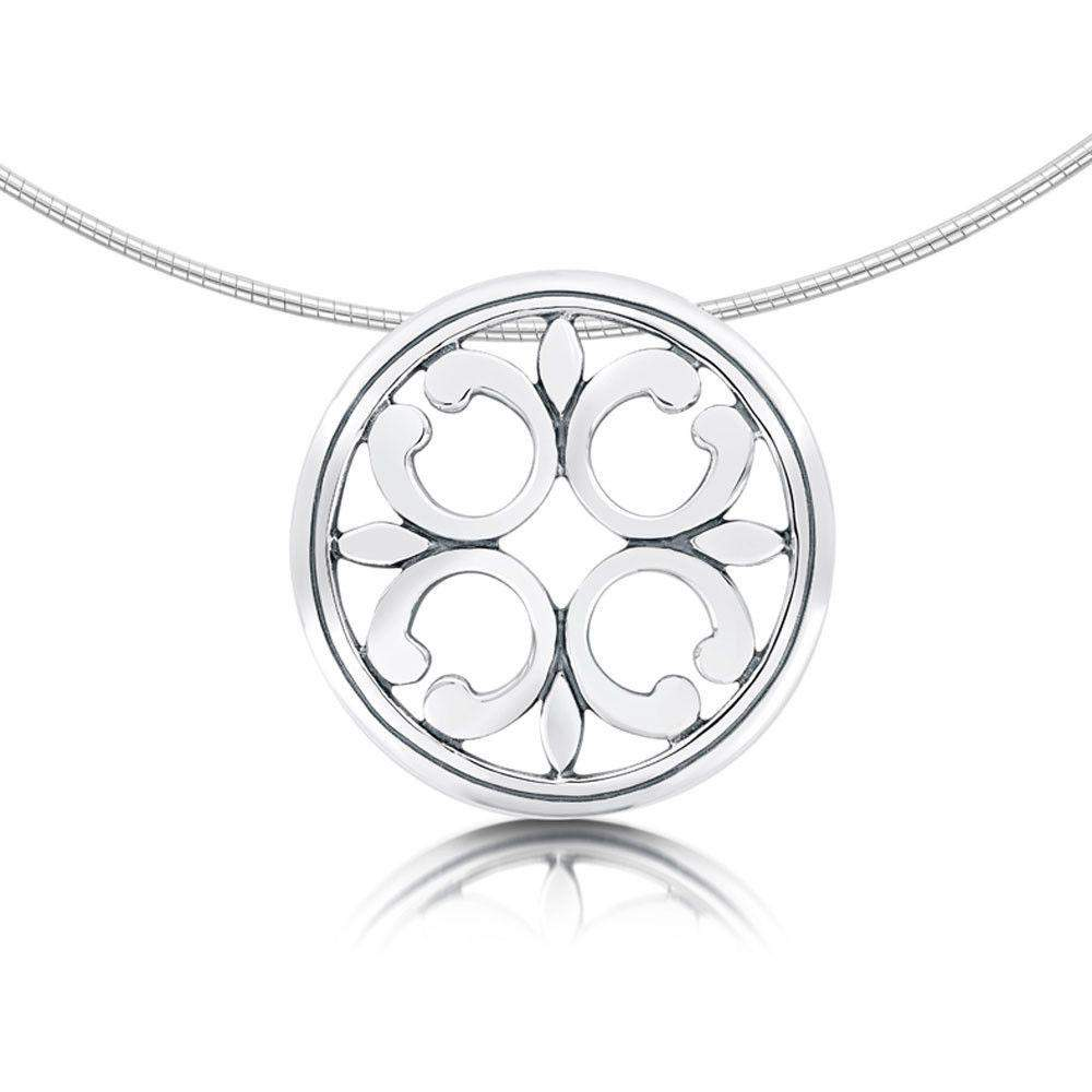 Sheila Fleet Cathedral Silver Necklet -NX21-Ogham Jewellery