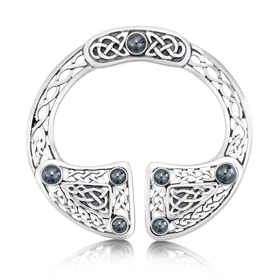 Sheila Fleet Celtic Brooch - SBX15-SIL-Ogham Jewellery