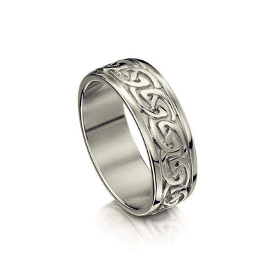 Sheila Fleet Celtic Knot Ring - Silver, Gold or Platinum - R23 - Size R-Z-Ogham Jewellery