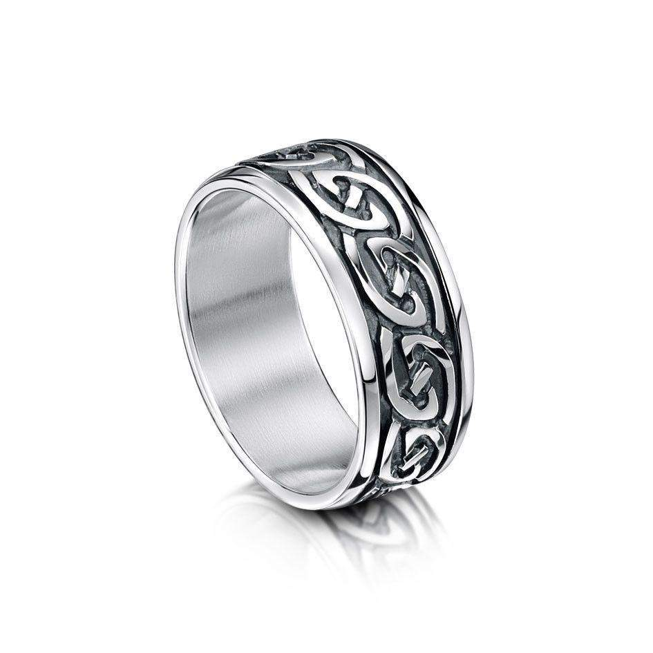 Celtic Knot Ring - Silver, Gold or Platinum - R23 - Size R-Z