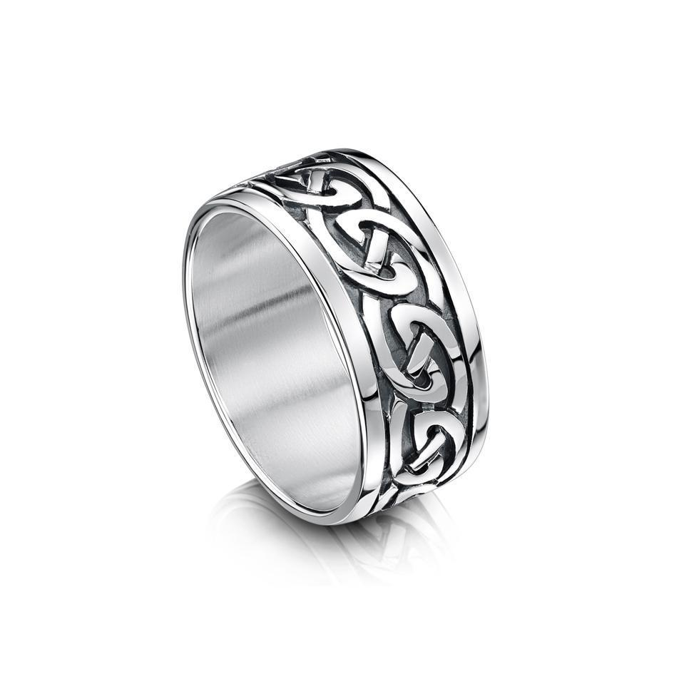 Celtic Knot Ring - Silver, Gold or Platinum - RX23 - Size R-Z