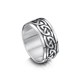 Sheila Fleet Celtic Knot Ring - Silver, Gold or Platinum - RX23 - Size R-Z-Ogham Jewellery