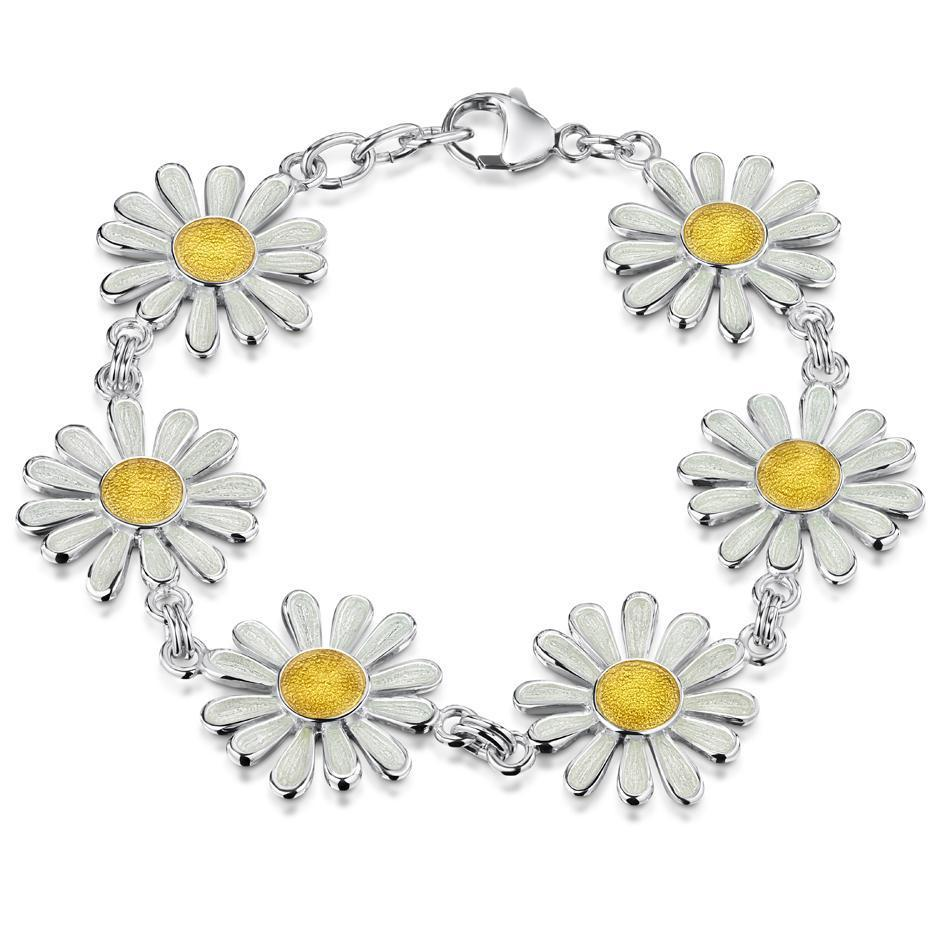 Sheila Fleet Daisies at Dawn Bracelet - EBLX233-Ogham Jewellery
