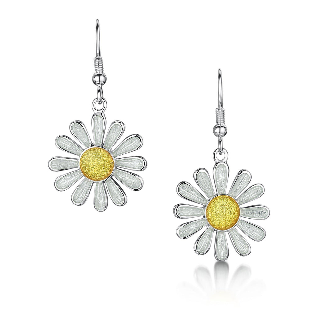 Sheila Fleet Daisies at Dawn Earrings - EEX233-Ogham Jewellery