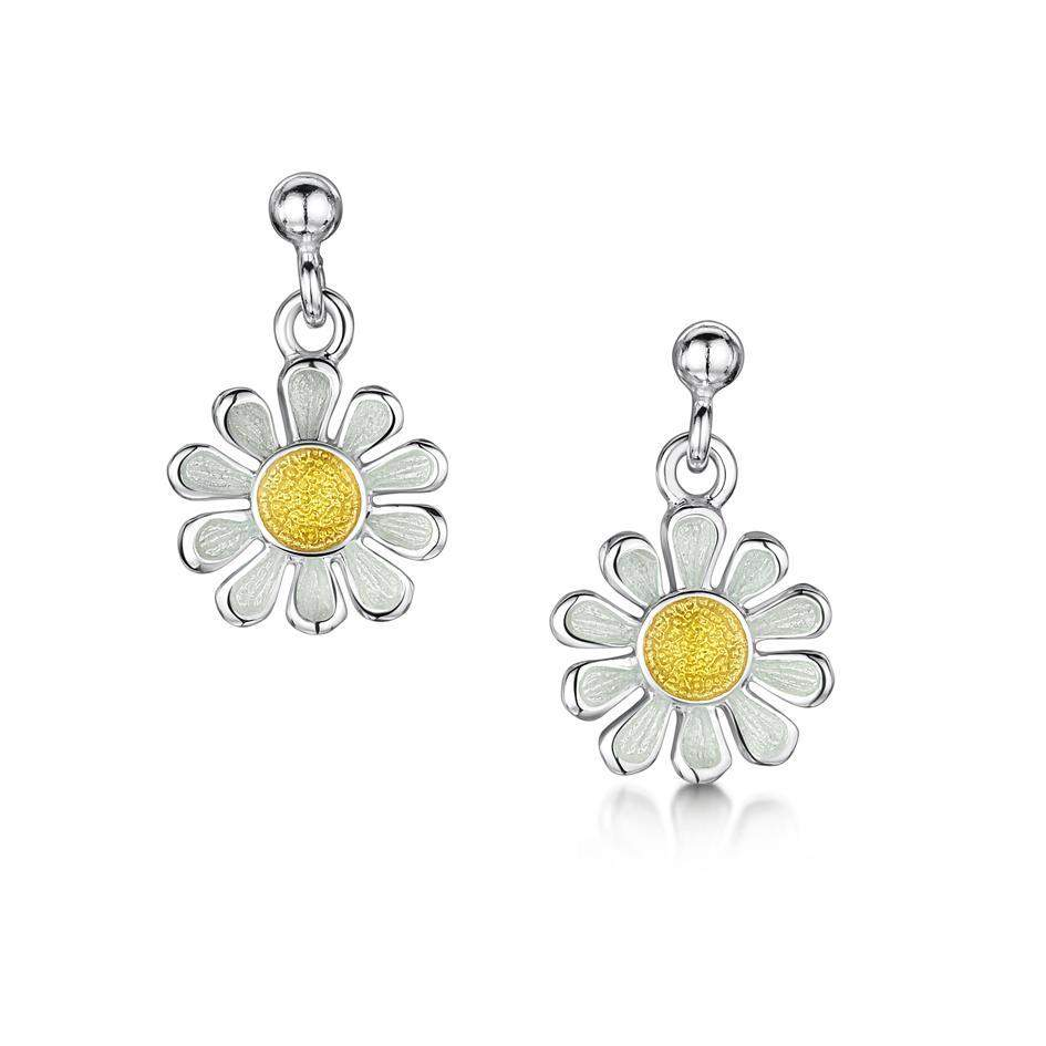 Sheila Fleet Daisies at Dawn Earrings - EEX234-Ogham Jewellery