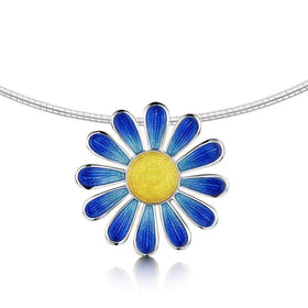 Sheila Fleet Daisies For Emily Necklace - ENXX233B-Ogham Jewellery