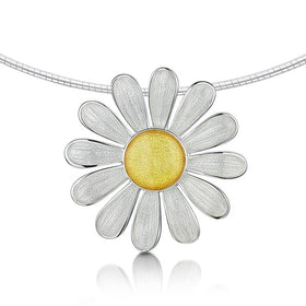 Sheila Fleet Daisies at Dawn Necklet - ENXXX233-Ogham Jewellery