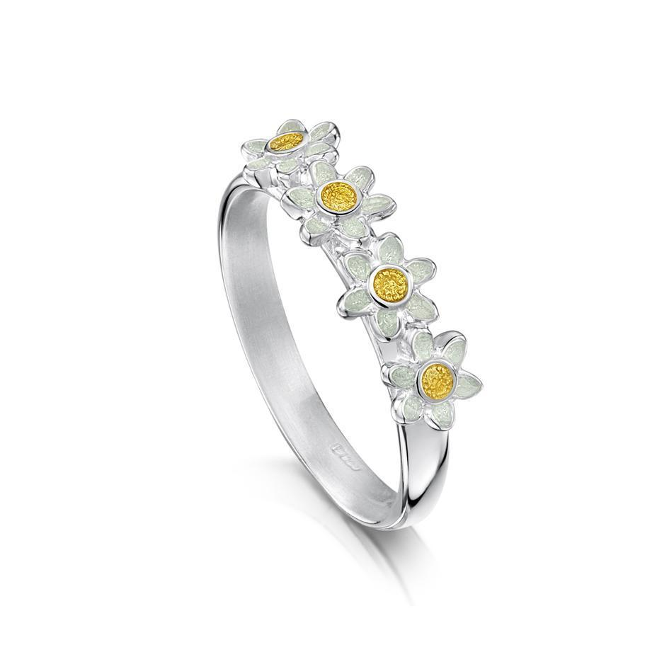Sheila Fleet Daisies at Dawn Ring - ER235-Ogham Jewellery