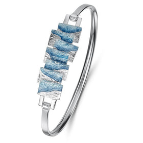 Sheila Fleet Flagstone Bangle - EBLX137-Ogham Jewellery