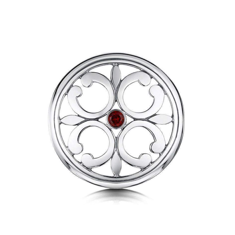 Sheila Fleet Garnet Cathedral Brooch - SBX21-Ogham Jewellery