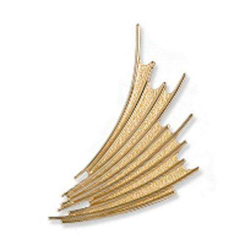Sheila Fleet Gold Cascade Brooch - BX150-Ogham Jewellery