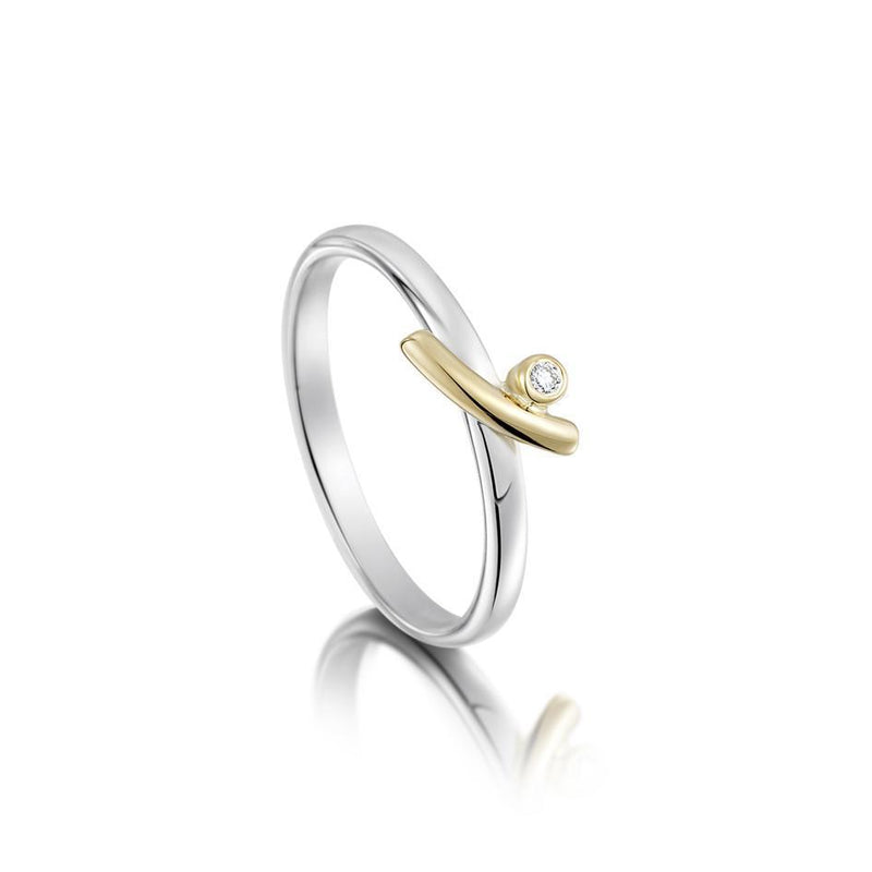 Kiss Silver and Gold Ring - GS-DR188
