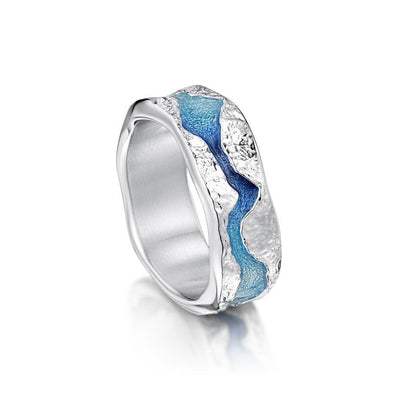 Sheila Fleet Lava Stream Ring - ERX218-Ogham Jewellery