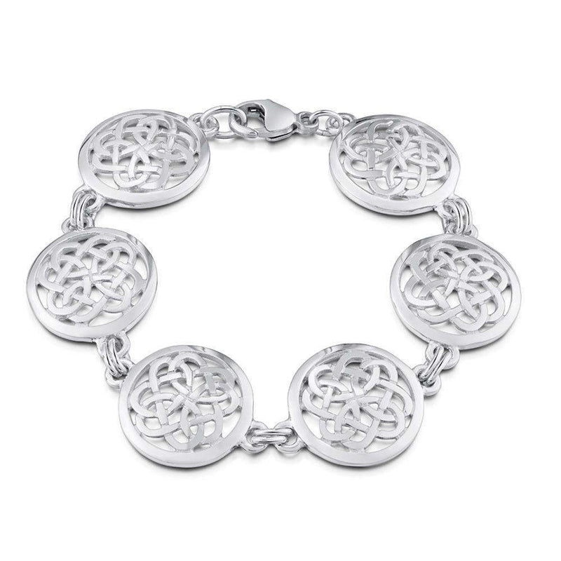 Sheila Fleet Maid Of The Loch Silver Bracelet - BLX136-Ogham Jewellery