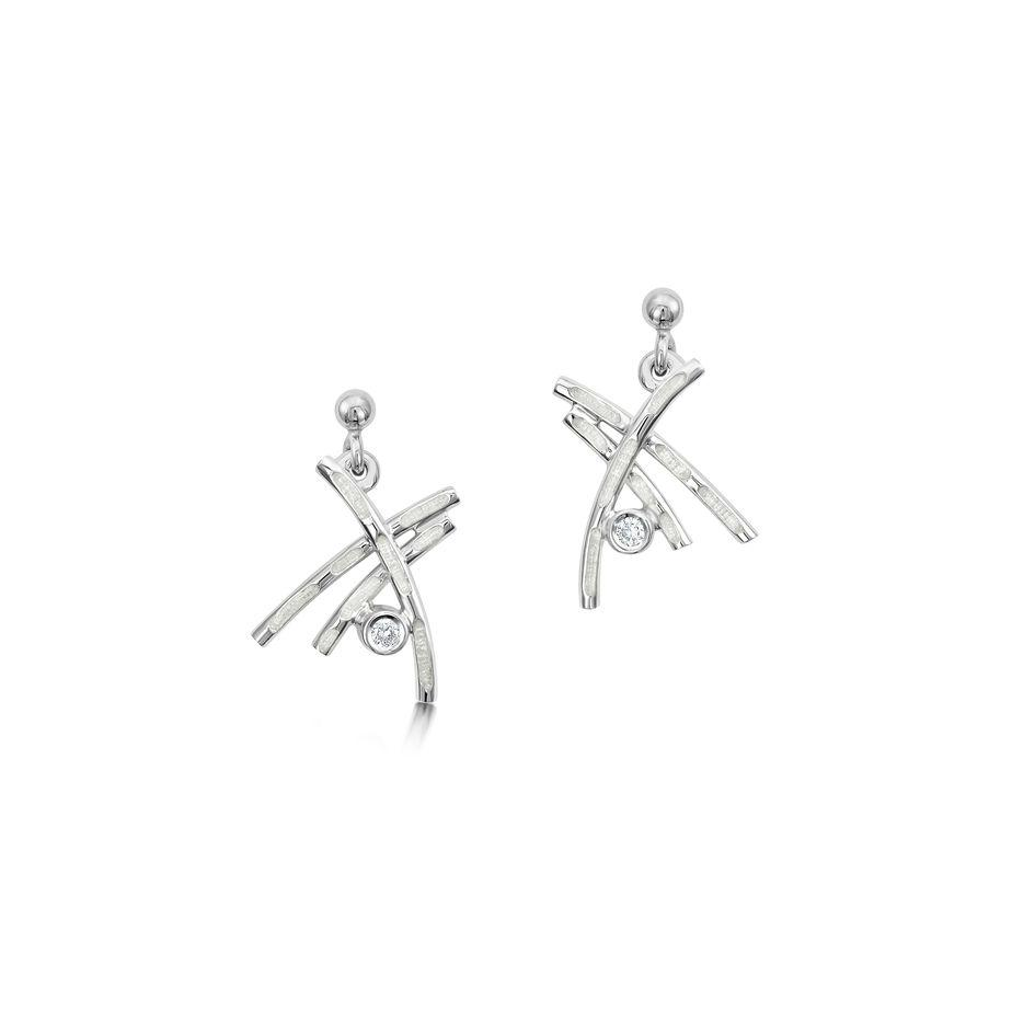 Sheila Fleet Morning Dew Earrings - ESE0185-Ogham Jewellery