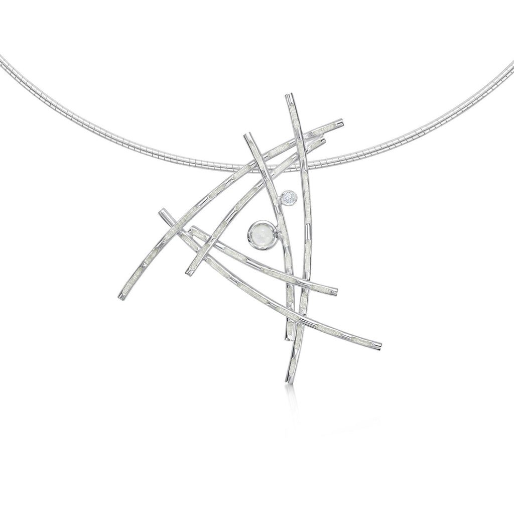 Sheila Fleet Morning Dew Silver Necklace - ESNX185-Ogham Jewellery